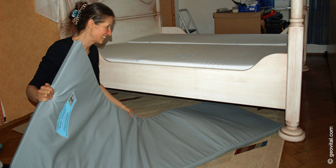 strahlenschutzmatte f r das schlafzimmer pronatur24 nat rlich rundum gesund. Black Bedroom Furniture Sets. Home Design Ideas
