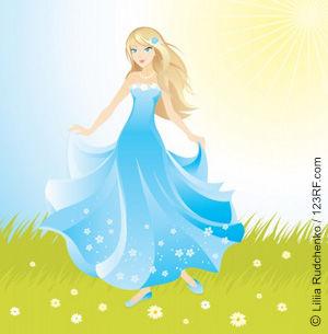 Wegwarte, eine verzauberte Prinzessin in der Natur