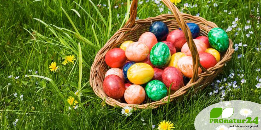 Farbenfrohe Eier zu Ostern