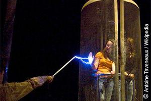 Faradayscher Käfig zur Abschirmung (©Antoine Taveneaux)