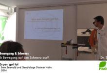 """Vortrag """"Was dem Körper gut tut"""" von Dr. Sven Seewald und Geobiologe Dietmar Hohn"""