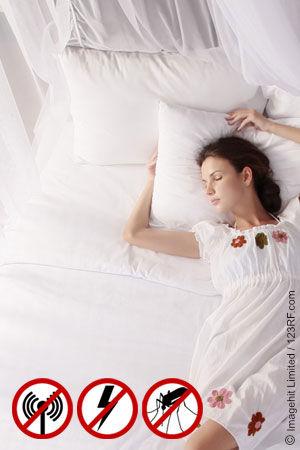 Hervorragend schlafen im elektrosmog geschützten Bett.