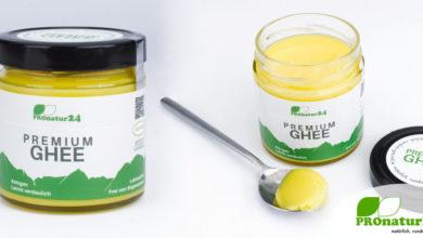 PREMIUM GHEE. Ayurvedisches Butterschmalz von PROnatur24