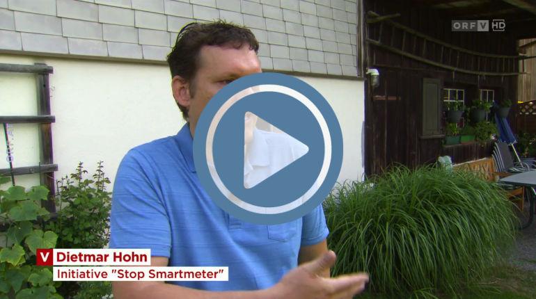 Das Interview mit Dietmar Hohn zum Smartmeter vom ORF Vorarlberg (Bildnachweis: ©ORF Vorarlberg)